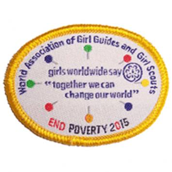 WAGGGS Global Action Theme (GAT) Badge Gold (Pack of 10)