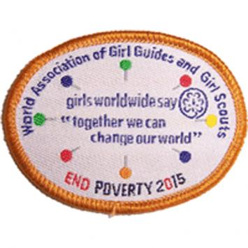 WAGGGS Global Action Theme (GAT) Badge Bronze (Pack of 10)