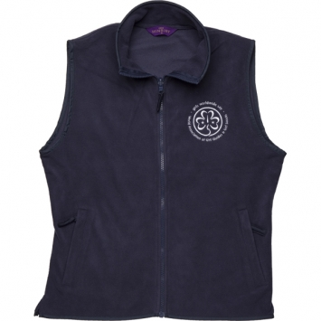 Ladies' Navy Fleece Gilet