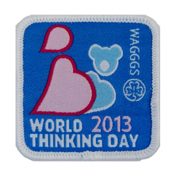 2013 World Thinking Day cloth Badge (Pack of 10)