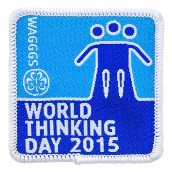 2015 World Thinking Day Cloth badge (Pack of 25)