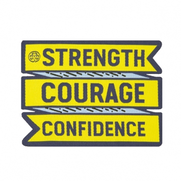 Strength-Courage-Confidence badge (Pack of 10)