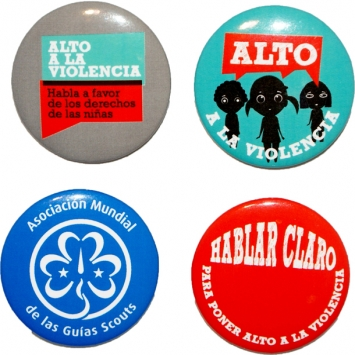 Stop The Violence Button Badges