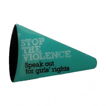 Stop The Violence megaphone enamel pin