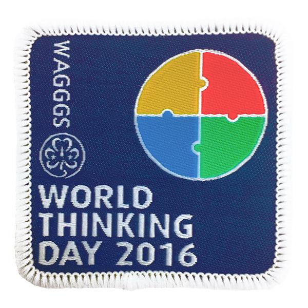 wagggs   badges   2016 world thinking day cloth badge