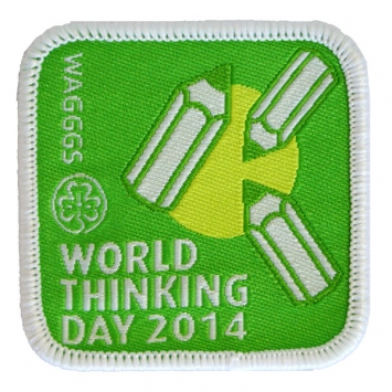 2014 World Thinking Day Cloth badge (Pack of 10)