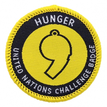 Hunger - UN Challenge Badge (Pack of 10) with free book
