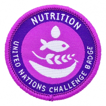 Nutrition - UN Challenge Badge (Pack of 10)
