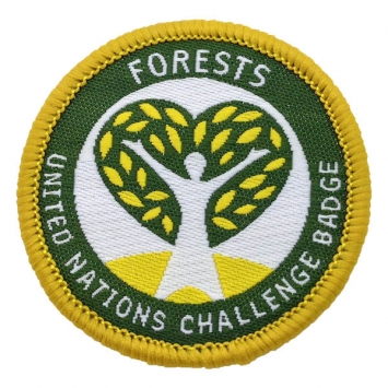 Forests - UN Challenge badge (Pack of 10) with free book